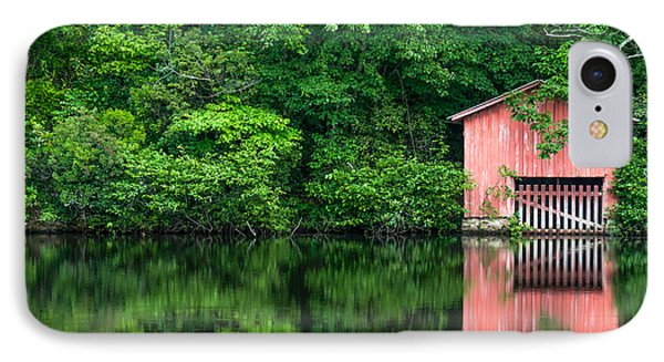 The Boat House At Desoto Falls Phone Case by Phillip Burrow