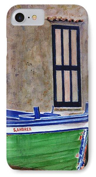 The Boat Phone Case by Karen Fleschler