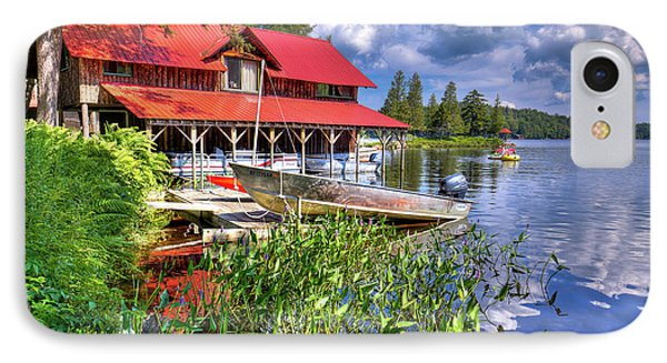 IPhone Case featuring the photograph The Boathouse At Covewood by David Patterson