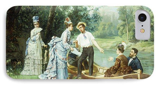 The Boating Party IPhone Case by Antonio Garcia Mencia