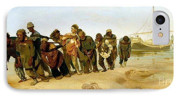 The Boatmen On The Volga Phone Case by Ilya Efimovich Repin