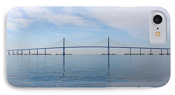 The Bob Graham Sunshine Skyway Bridge Tampa Bay Phone Case by Louise Heusinkveld