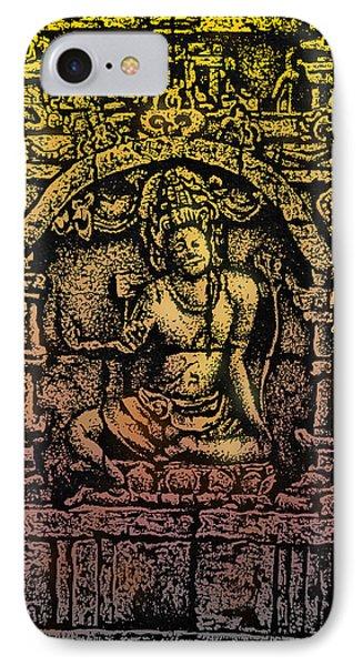 The Bodhisattva Samantabhadra Borobudur Java Phone Case by Larry Butterworth