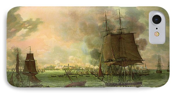 The Bombing Of Cadiz By The French  Phone Case by Louis Philippe Crepin