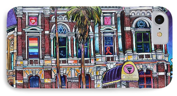 IPhone Case featuring the painting The Bonham Exchange by Patti Schermerhorn