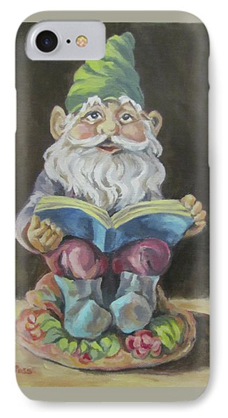 The Book Gnome Phone Case by Cheryl Pass