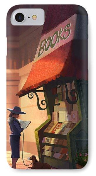 The Bookstore IPhone Case by Kristina Vardazaryan