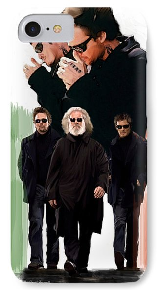 IPhone Case featuring the painting The Boondock Saints  Redemption by Iconic Images Art Gallery David Pucciarelli