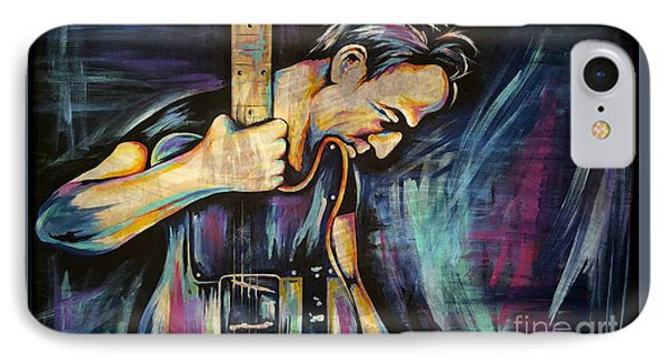 Music iPhone 7 Case - The Boss Bruce Springsteen by Amy Belonio