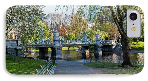 The Boston Public Garden In The Spring Boston Ma IPhone Case by Toby McGuire