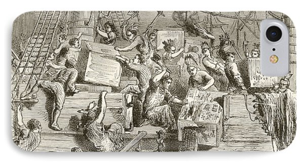 The Boston Tea Party, December 16 IPhone Case by Vintage Design Pics