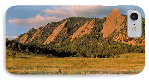 The Boulder Flatirons IPhone Case