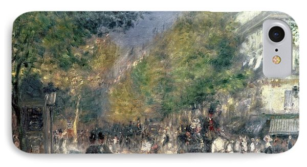 The Boulevards  IPhone Case by Pierre Auguste Renoir