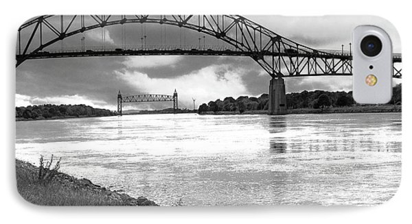 IPhone Case featuring the photograph The Bourne And Railroad Bridges by Michelle Wiarda
