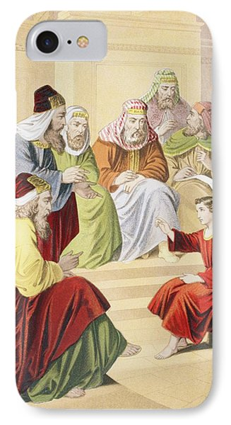 The Boy Jesus Debating With Priests And IPhone Case by Vintage Design Pics