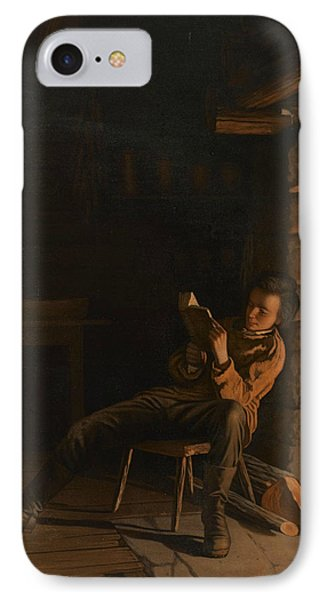 The Boyhood Of Lincoln  IPhone Case by Eastman Johnson