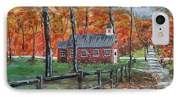 The Brick Country Schoolhouse IPhone Case by Mike Caitham