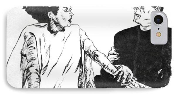 The Bride Of Frankenstein Phone Case by Bryan Bustard