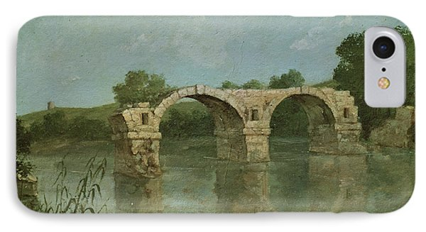 The Bridge At Ambrussum Phone Case by Gustave Courbet