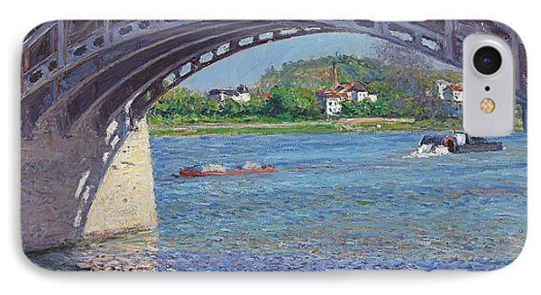 The Bridge At Argenteuil And The Seine IPhone Case by Gustave Caillebotte