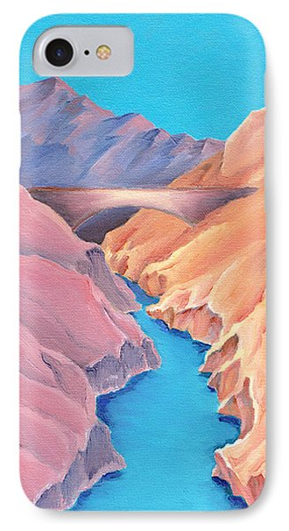 IPhone Case featuring the painting The Bridge by Elizabeth Lock