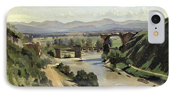 The Bridge Of Augustus Over The Nera IPhone Case by Jean Baptiste Camille Corot