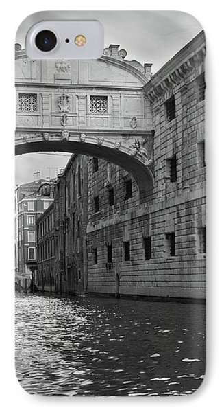 IPhone 7 Case featuring the photograph The Bridge Of Sighs, Venice, Italy by Richard Goodrich