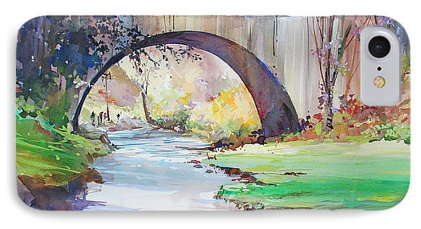 The Bridge Over Brewster Garden IPhone Case by P Anthony Visco