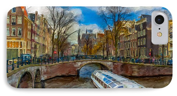 IPhone Case featuring the photograph The Bridges Of Amsterdam by Juan Carlos Ferro Duque