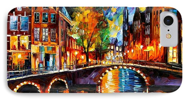 The Bridges Of Amsterdam Phone Case by Leonid Afremov