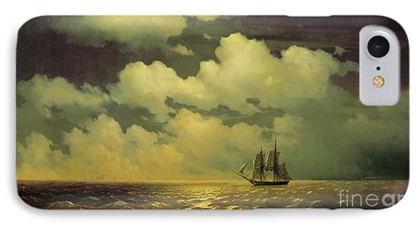 The Brig Mercury After Defeating Two Turkish Ships Of The Russian Squadron IPhone Case by Ivan Aivazovsky