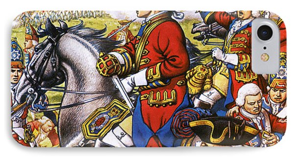 The British Life Guards Clash With The French At Fontenoy In 1745 IPhone Case