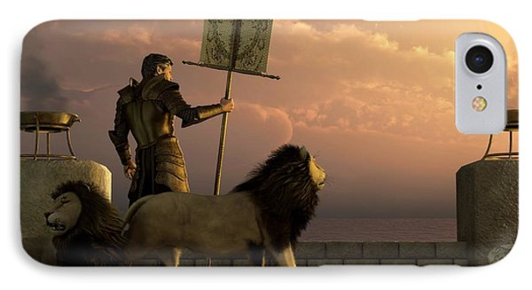 The Bronze Knight Of The Isle Of Lions Phone Case by Daniel Eskridge