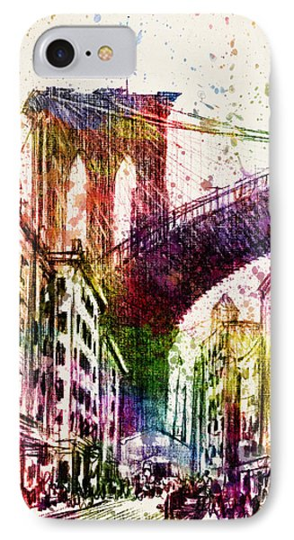 The Brooklyn Bridge 03 IPhone Case by Aged Pixel