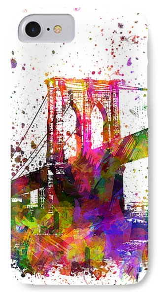 The Brooklyn Bridge 04 IPhone Case by Aged Pixel