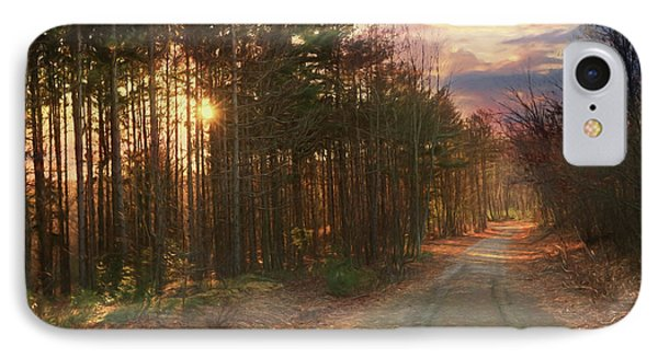 IPhone Case featuring the photograph The Brown Path Before Me by Lori Deiter