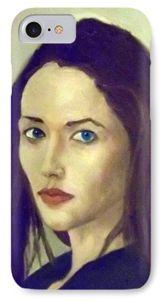 The Brunette With Blue Eyes IPhone Case