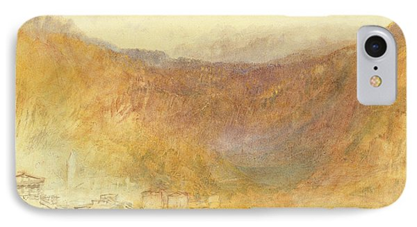 The Brunig Pass From Meiringen Phone Case by Joseph Mallord William Turner