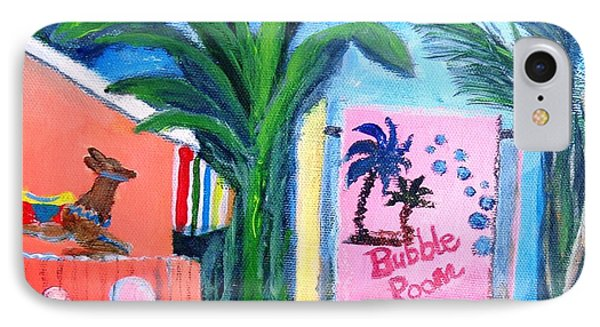 The Bubble Room Captiva Island Florida Phone Case by Annie St Martin