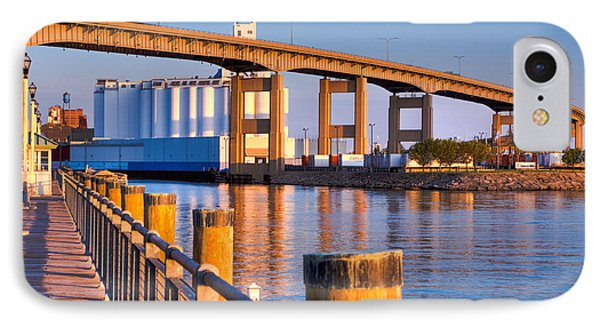IPhone Case featuring the photograph The Buffalo Skyway by Don Nieman