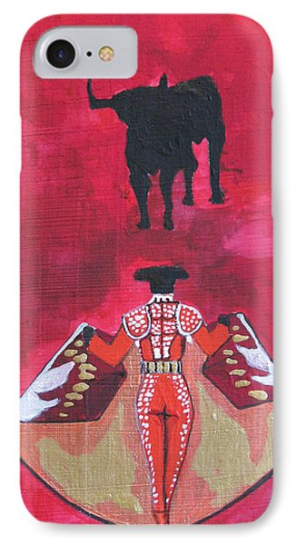 The Bull Fight  No.1 IPhone Case by Patricia Arroyo