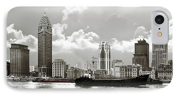 The Bund - Old Shanghai China - A Museum Of International Architecture Phone Case by Christine Till