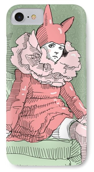 The Bunny Girl IPhone Case by H James Hoff