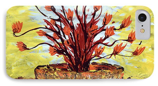 IPhone Case featuring the painting The Burning Bush by J R Seymour