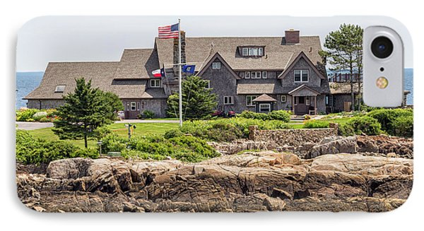 The Bush Compound Kennebunkport Maine IPhone Case by Brian MacLean
