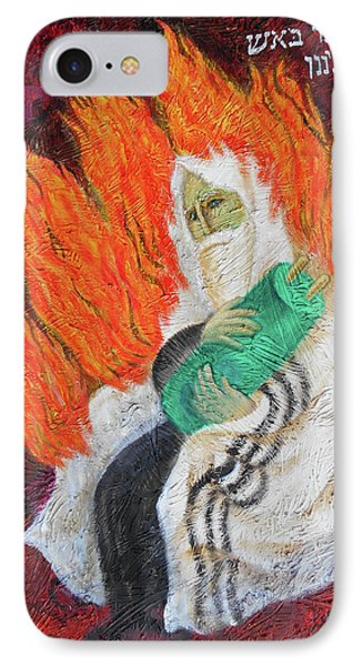 The Bush Was Burning In The Fire, But The Bush Was Not Consumed IPhone Case by Leon Zernitsky