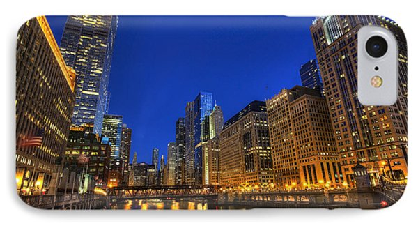 IPhone Case featuring the photograph The Busy River In Chicago by Shawn Everhart
