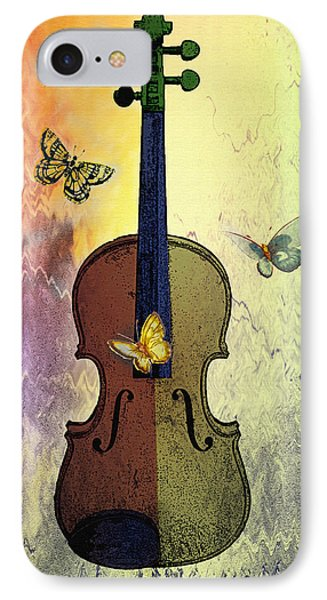 The Butterflies And The Violin Phone Case by Bill Cannon