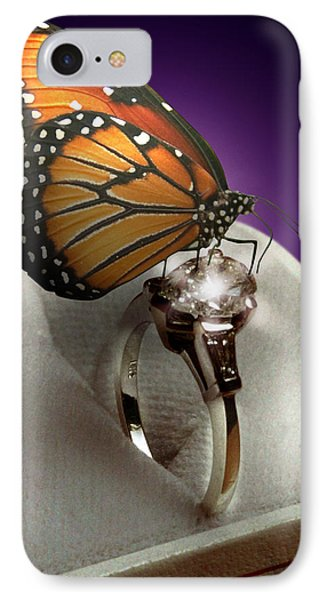 The Butterfly And The Engagement Ring Phone Case by Yuri Lev