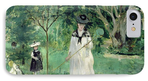 The Butterfly Hunt IPhone Case by Berthe Morisot
